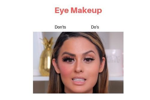 Eye Makeup Do's And Don'ts