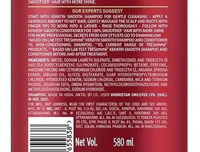 Tresemme keratin smooth shampoo ingredients
