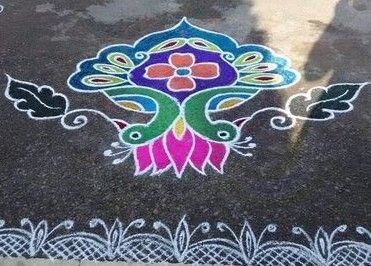 The Peacock Pongal Kolam