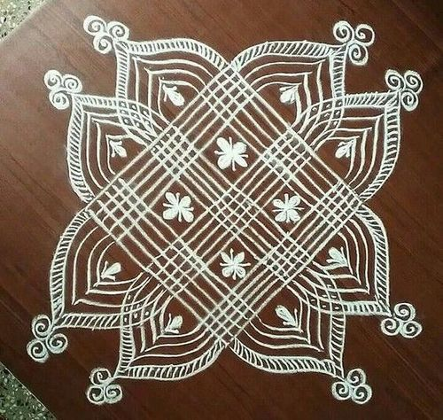 Pongal Rangoli Design With Dots