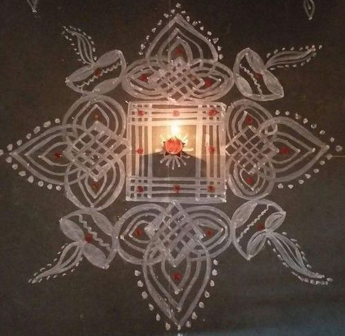 Pongal Kolam Rangoli Design – For Beginners