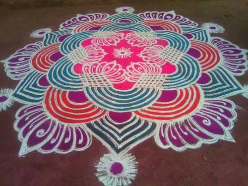 Dots-on-the-top-rangoli-design