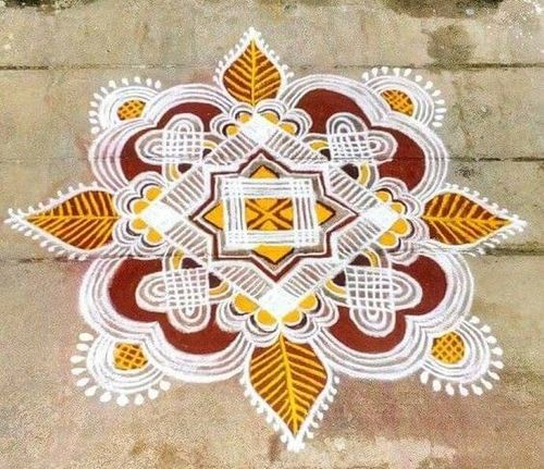 The Subtle Dots Rangoli Design
