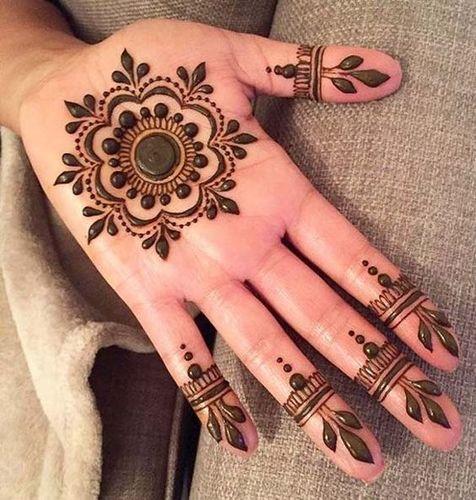 Floral Hand Mehndi