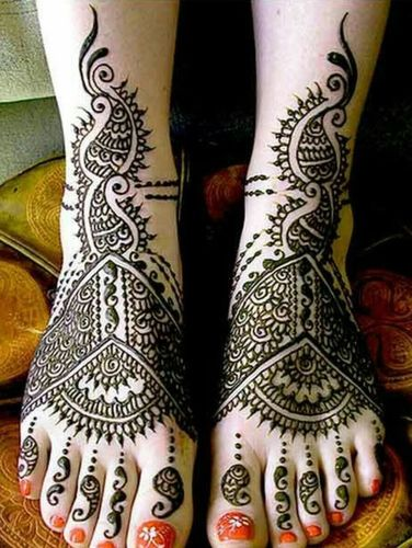 Mirror Mehandi Designs