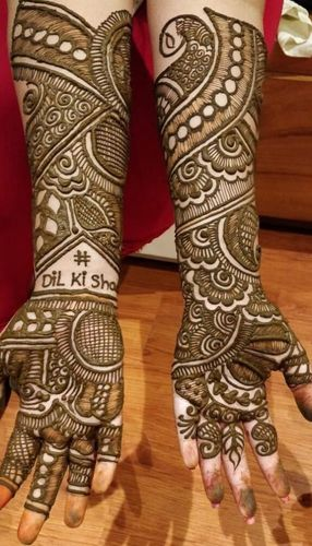 Easy Mehndi Design For Brides
