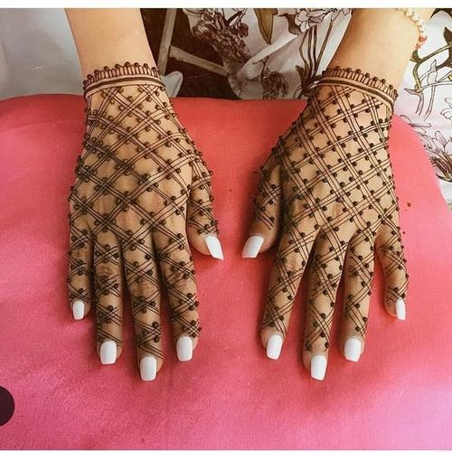 Easy Mehndi Design With Jaal