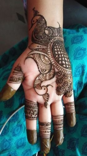 Beautiful Mehendi Design With Peacocks