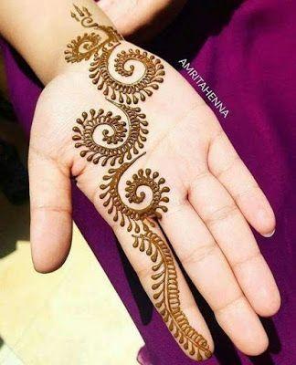 Spiral Mehndi Design