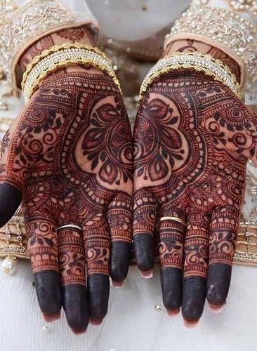 Half And Half Henna Mehndi Design