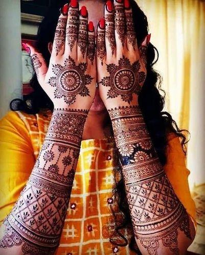 Floral Mandal Wedding Mehndi Designs