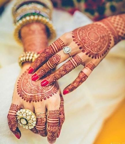 New Mehandi Design For Brides