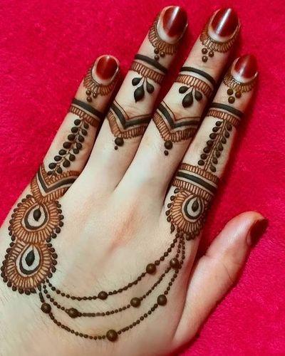Jewellery Mehndi Design For Brides