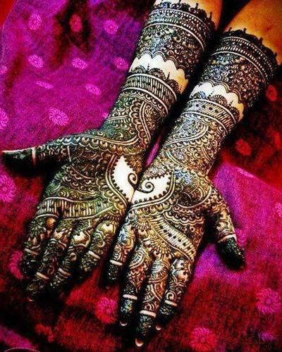Mirror Bridal Mehndi Design