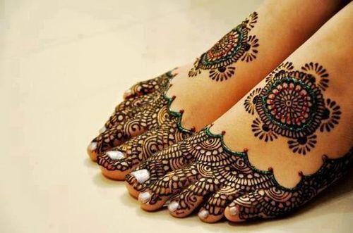Colorful Marriage Mehndi Design