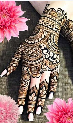 New Floral Bridal Mehndi Design