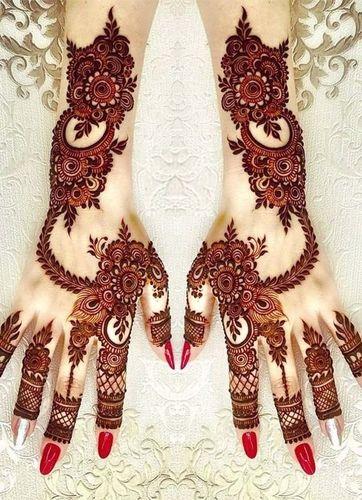 Arabic Mehndi Design For Brides