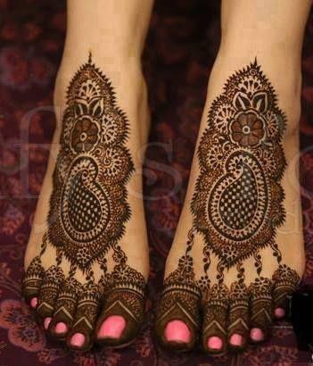 Mirror Bridal Mehndi  For Feet