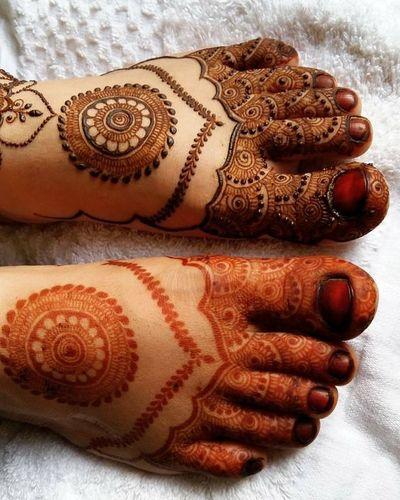 Mandala Design For Feet