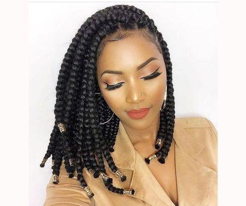 Pretty box braid styles