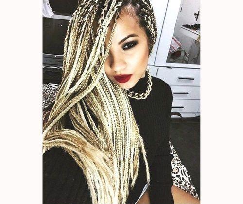 Stylish goddess box braids