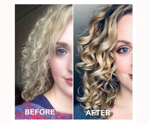 Curly Girl Method-before after