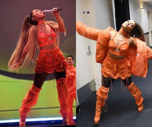 Ariana-grande-orange-outfit
