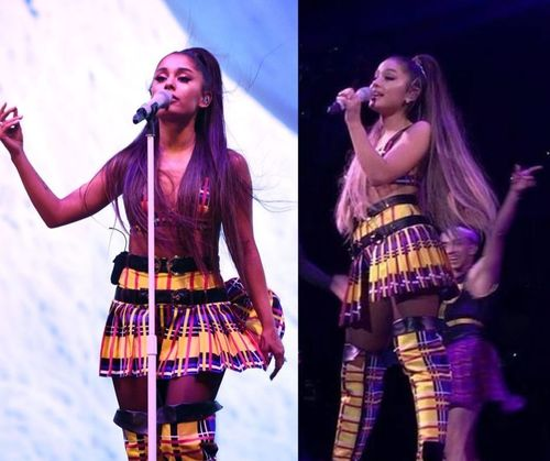 Ariana-grande-striped-outfit