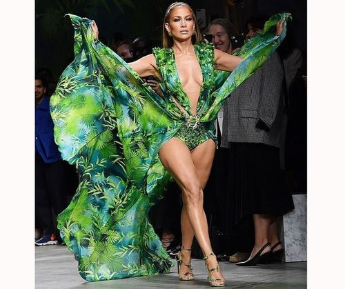 Jlo-Versace Green Dress Costume