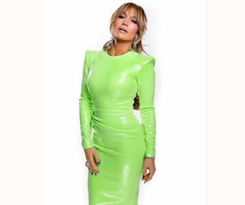 Popular Jlo Green Dress