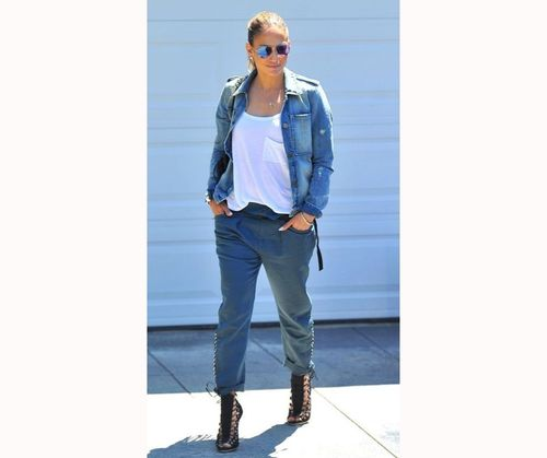 The Denim God JLo Outfit