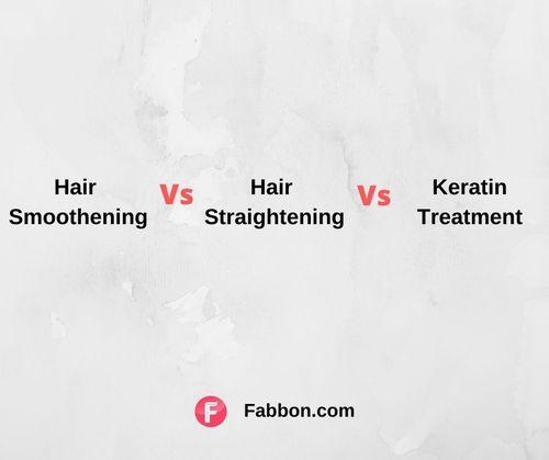 Hair Smoothening Vs straightening