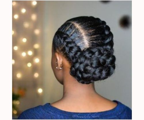 Simple Updo Hairstyles For Black Hair