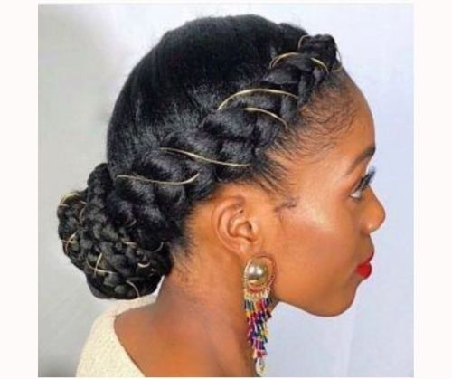 _Braided Bun With Golden Thread