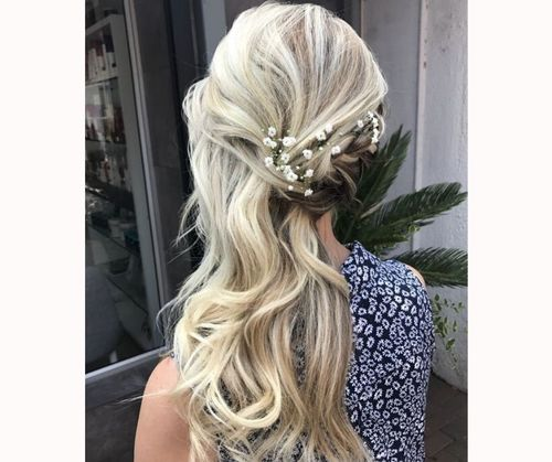 Sideswept Bridesmaid Hair