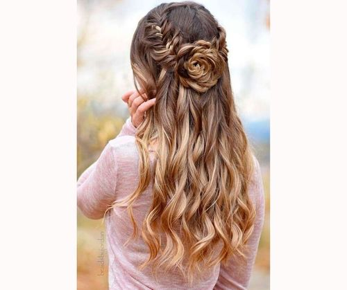 Chic Braided Half Up Half Down