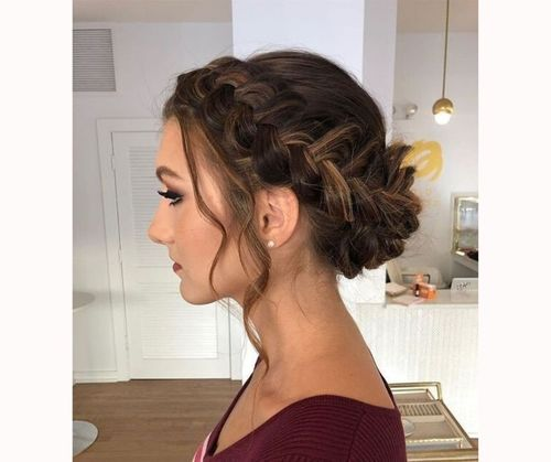 Beautiful Bridesmaid Hair With Dutch Braids