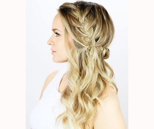 Crown Braid With Loose Waves