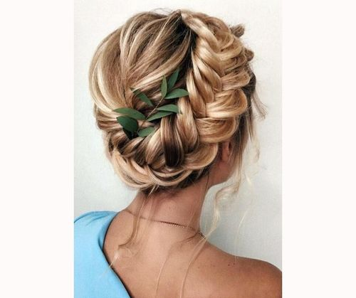 Crown Braids With Leaves