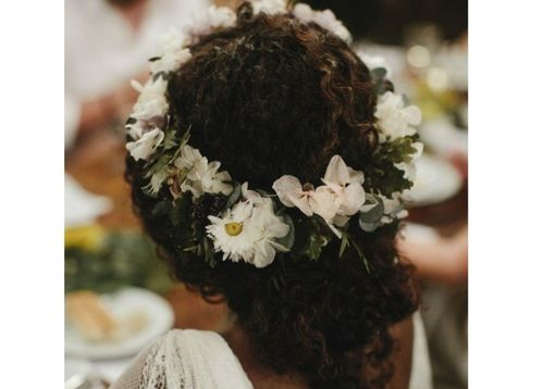 3 the curly updp with flowers