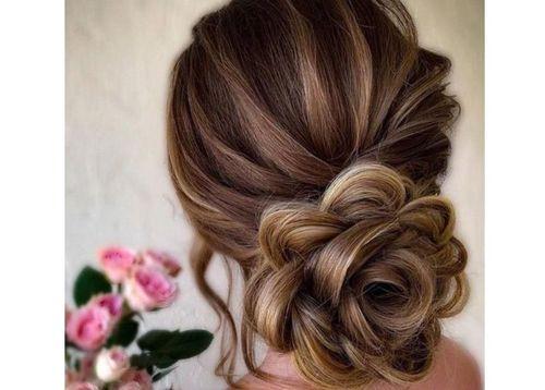 51 elaborate floral bun