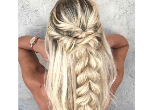 46 Beautiful half braided hairstyle