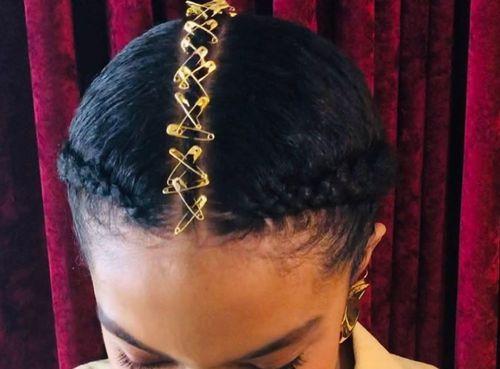 41 Pinned up braids
