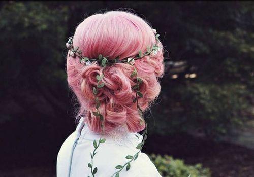 40 Colored wedding updos