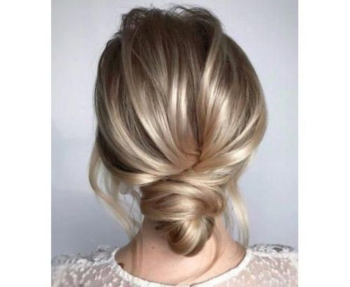 14 Low knot updo