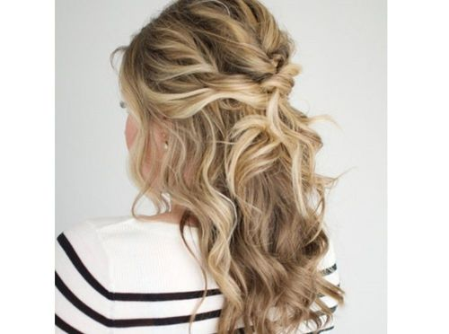 1 twisted half up hairstyle