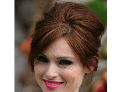 6 Bouffant with side bangs
