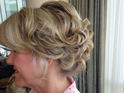 7 curly voluminous updo