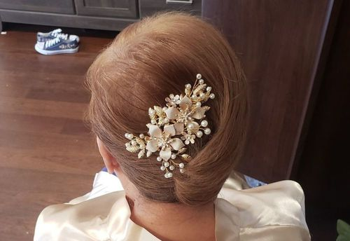 11 Small and accessorized French twist
