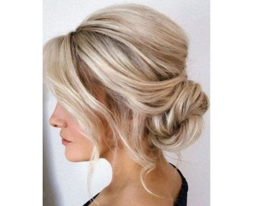 15 Messy Bun with wispy front